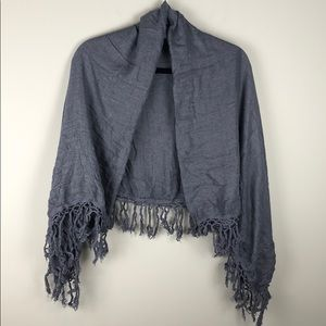 H&M Divided Square Scarfe with Tasseled Fringe